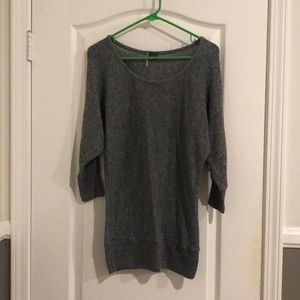 Grey Shrug Scoop Neck Sweater Size Small